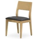 餐椅 TV-466-2 喬伊原木餐椅(咖啡亞麻紋皮)【大眾家居舘】