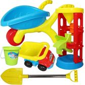 兒童沙灘玩具車套裝男女孩寶寶玩沙子挖沙漏鏟子桶戲水決明子工具WY【快速出貨八五折鉅惠】