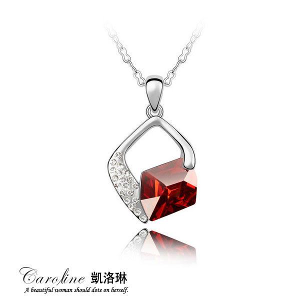 《Caroline》★甜美魅力、迷人風采無限動人水晶時尚項鍊65845