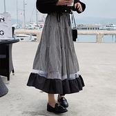 半身裙 長裙早春新款百搭赫本風半身裙氣質蛋糕裙大擺裙NB38快時尚