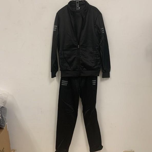 新款時尚加絨休閒長袖T恤背心休閒褲三件式套裝(L-4XL號/777-7789)