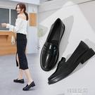英倫風黑色小皮鞋女2020夏季新款日系學生jk女鞋百搭平底軟皮單鞋