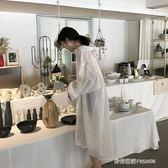 白色長款雪紡襯衫女長袖寬鬆夏季防曬衣中長款開衫薄款襯衣外套潮  時尚潮流