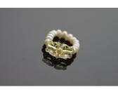 【喨喨飾品】珍珠戒指。黃S442