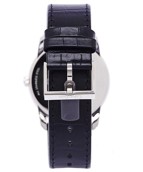 CK Calvin Klein 時尚典藏男性皮帶手錶(K5S311C6)-銀面X黑色/42mm
