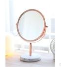 北歐宿舍鏡ins鏡子化妝鏡桌面台式化妝鏡少女鏡子 果果生活館