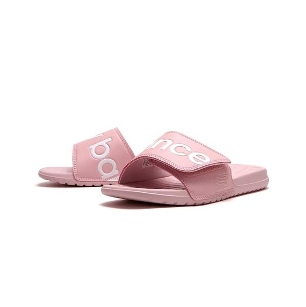 New Balance 粉白 logo 海綿 魔鬼氈拖鞋 女款 SDL230PK ☆SP☆