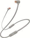 日本熱銷款 JBL Bluetooth 無線耳機/帶麥克風/帶磁鐵T110BT - 灰