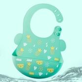 圍兜口水巾 防水硅膠圍嘴寶寶吃飯圍兜兒童飯兜兒童幼兒超軟大號口水兜jy【快速出貨八折下殺】