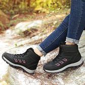 防水雪靴 冬季雪地靴厚底戶外高幫棉鞋徒步運動鞋-炫科技
