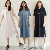 MIUSTAR MILANO側開衩連帽棉質洋裝(共3色)【NH0635RE】預購