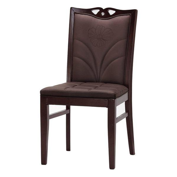 【森可家居】巴茲爾餐椅(皮)(實木) 7CM514-14