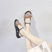 平底涼鞋 波西米亞沙灘涼鞋女2020新款韓版海邊度假羅馬鞋