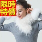 皮草毛領貉子毛-溫暖率性氣質圍巾63g36[巴黎精品]