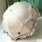 防曬女太陽傘防紫外線雨傘晴雨兩用摺疊黑膠...