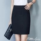 職業裙黑色包裙包臀工裝半身裙西裝高腰一步裙女西裙正裝工作短裙 范思蓮恩