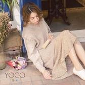 東京著衣【YOCO】韓系美人碎花荷葉長洋裝-S.M.L(171930)