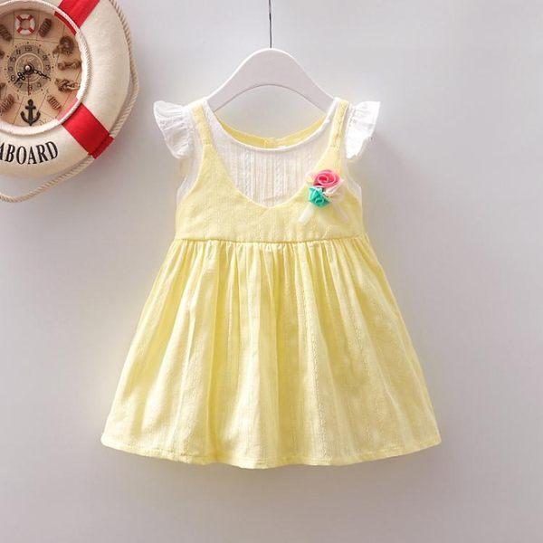 連身裙嬰兒裙子夏0-1小女童洋裝薄款夏兒童公主裙2-3一歲女寶寶夏裝限時7折起,最後一天