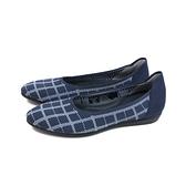 inooknit 平底鞋 休閒鞋 深藍/方格 編織 女鞋 IK-AI4FW0121-555 no016
