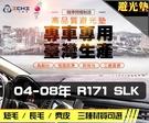 【麂皮】04-08年 R171 SLK系列 避光墊 / 台灣製、工廠直營 / r171避光墊 r171 避光墊 r171 麂皮 儀表墊