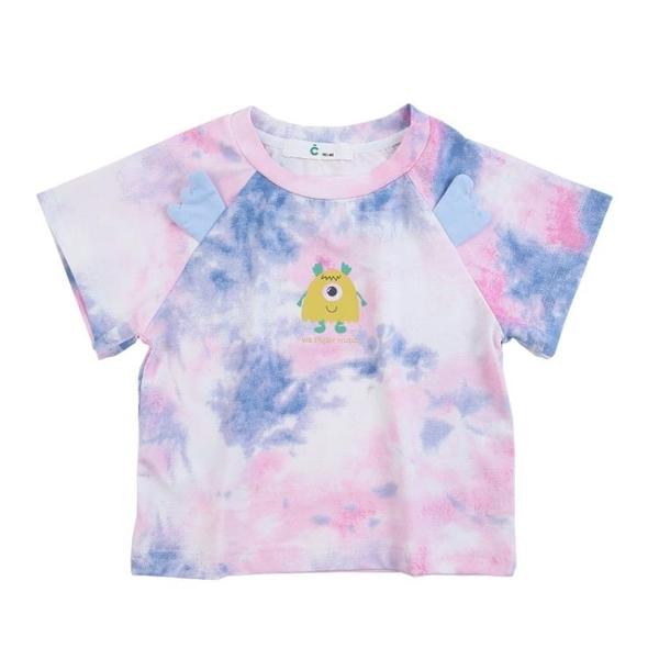 兒童短袖t恤男2021新款個性洋氣純棉半袖上衣1-3歲男寶寶夏裝 茱莉亞