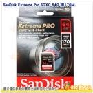 SanDisk Extreme Pro SDXC 64G 64GB 讀取170MB/s 寫90MB 記憶卡公司貨 U3 V30 適用 相機 單眼 微單.等