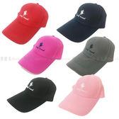 【KP】棒球帽 彎沿 繡字 Lucky travel 馬 寬度可調 黑灰紅深藍粉紅 DTT100007598