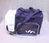 「野球魂中壢店」--「HATAKEYAMA」個人裝備袋(側袋型,深藍×白色)