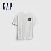 Gap男童 活力亮色透氣短袖T恤 682081-白色