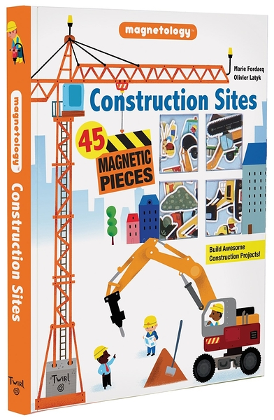 CONSTRUCTION SITES/磁鐵書《主題:工地.交通工具》