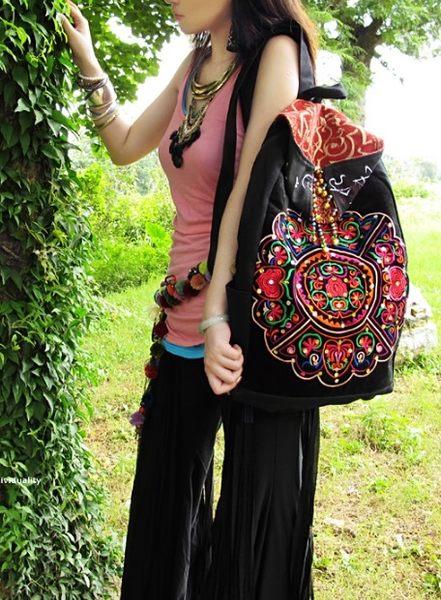熱銷歐美 高級帆布料 帆布包 民族風包包 刺繡包 學生書包 男女 電腦包 手提肩背包 斜背包