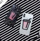 【SZ15】iPhone X手機殼 滴膠閃粉可樂飲料 iPhone ten全包軟膠保護殼