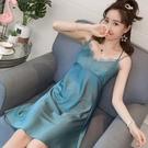 吊帶睡衣 睡衣女夏季天冰絲棉綢性感可愛火辣騷激吊帶睡裙薄款仿真絲綢