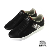 Royal Genesis 黑色 皮質 套入 休閒運動鞋 男款 NO.B1088【新竹皇家 01994-991】