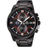 CASIO EDIFICE 疾黑重裝再啟碼表計時賽車錶(紅x黑)_EFR-543BK-1A4【屈臣氏】