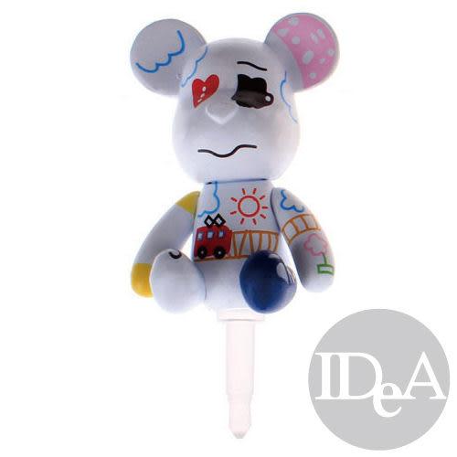 POPOBE熊 全身版直立式耳機孔防塵塞 耳機塞 花紋公仔 潮流玩具 熊仔 非 暴力熊 momo熊 BE@RBRICK熊