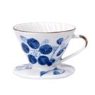 金時代書香咖啡 V01 日式手繪陶瓷咖啡濾器 - 蘭藤花 HG5548E