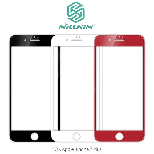 NILLKIN Apple iPhone 7/8 Plus 3D CP+ MAX 滿版防爆鋼化玻璃貼 9H硬度 螢幕玻璃膜 2.5D弧邊導角 I8P