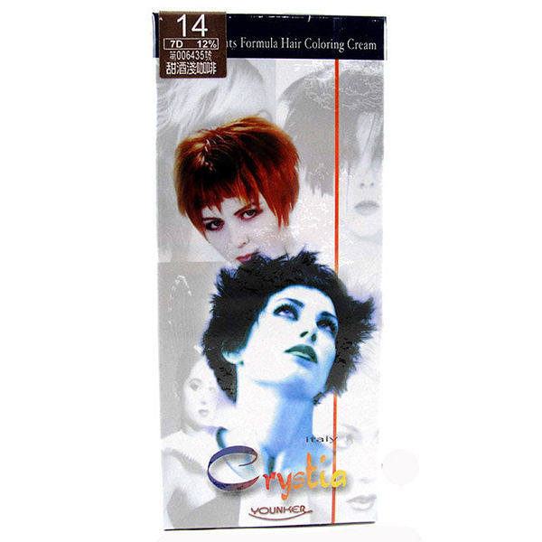 【產地義大利】美麗人生 草本護染髮劑 14號-甜酒淺咖啡色 [62694]