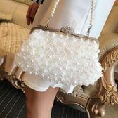 珍珠包鉆晚宴包手拿包蕾絲女包單肩斜跨小包包TA7487【極致男人】