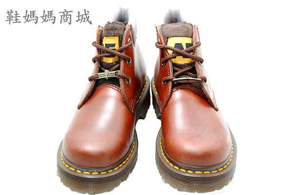 【鞋媽媽】[女]全新AE馬丁鞋*3孔短靴*咖啡色*防滑防潑水*ae194