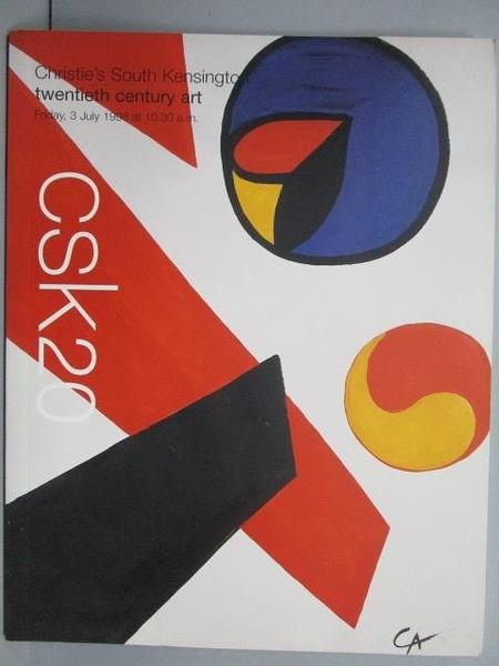 【書寶二手書T3/收藏_PME】Christie s_Twentieth Century Art_1998/7/3