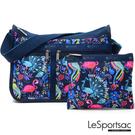 LeSportsac - Standard雙口袋A4大書包-附化妝包 (熱帶島嶼) 7507P F651
