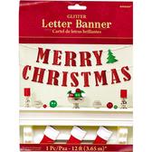 聖誕 裝飾 佈置 金蔥英文字串1入-聖誕節快樂