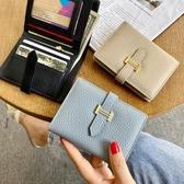 錢包女 歐美新款錢包女短款小巧超薄皮夾簡約百搭大氣錢夾多卡位卡包 快速出貨