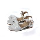 兒童鞋 涼鞋 小女生鞋 低跟 白色 中童 童鞋 31616 no186