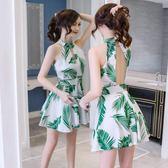 派對夜店 韓版 露背 印花 無袖 收腰 宴會 連身裙 小禮服