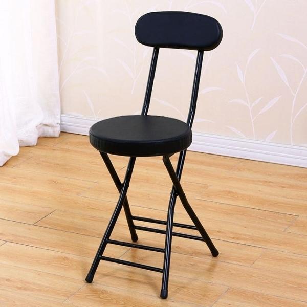 折疊椅子凳子家用靠背椅餐桌凳高餐椅小圓凳板凳簡易宿舍簡約便攜 熊熊物語