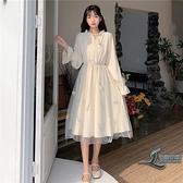 連身裙裙子新款學生森系長裙溫柔【邻家小鎮】