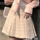 JK裙 半身裙日系學生jk百摺a字高腰顯瘦格子仙女超仙森系短裙子2021夏 智慧 618狂歡